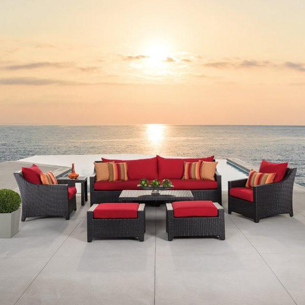 8-pc Sunbrella Group Sunset Red