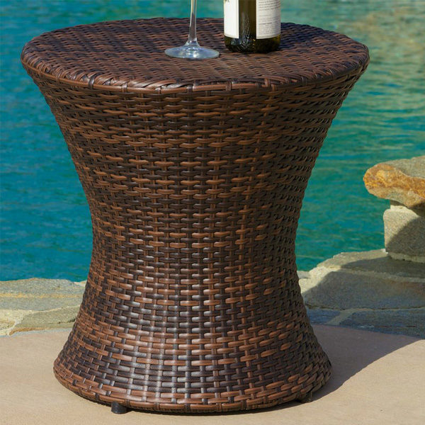 Clessidra Side Table Brown