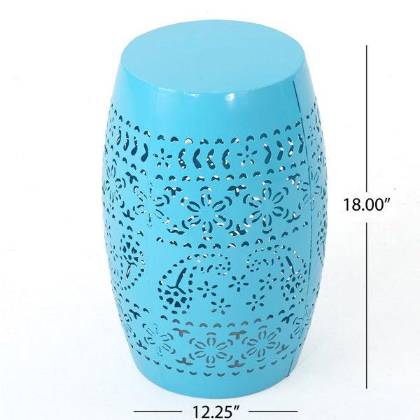 Ferro Accent Table Blue2