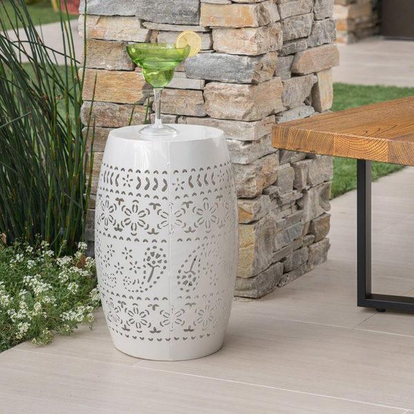 Ferro Accent Table White