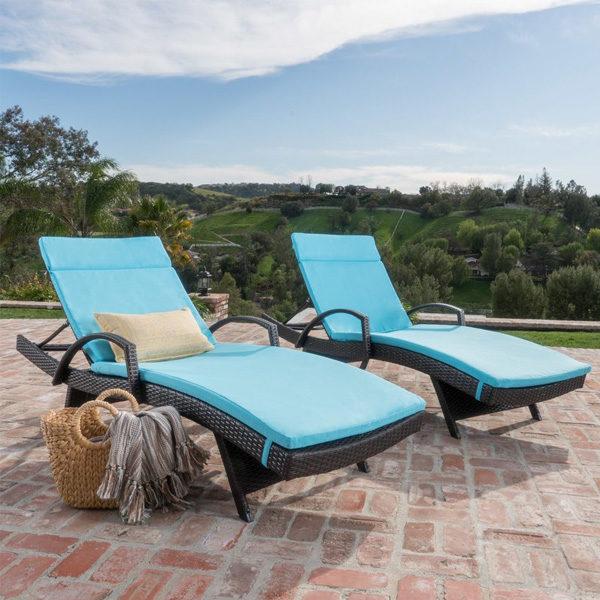 Kai Chaise Lounge Set Blue