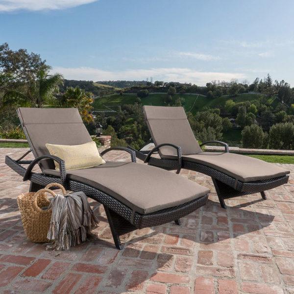 Kai Chaise Lounge Set Charcoal