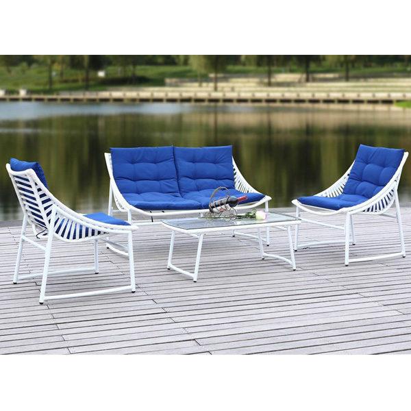 Lea 4-pc Set Blue & White1