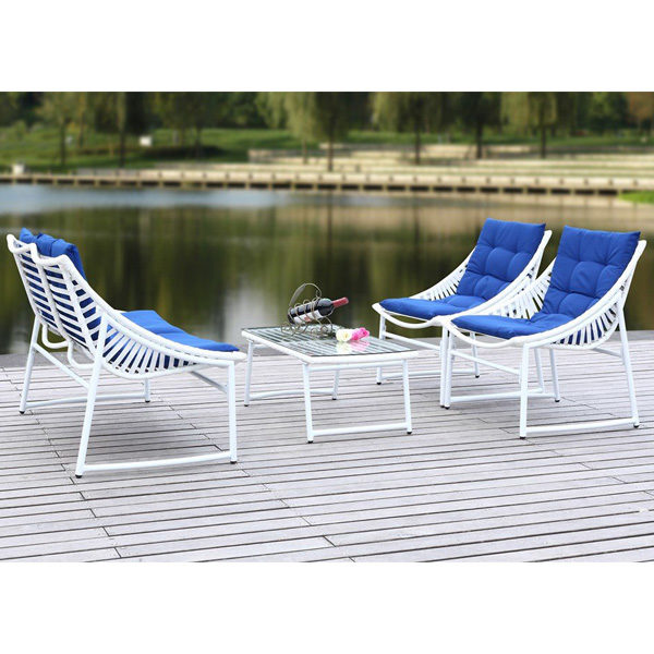 Lea 4-pc Set Blue & White2