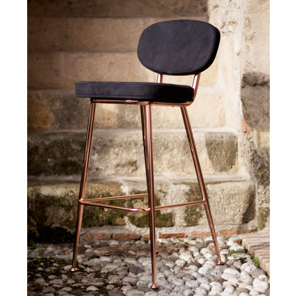 Black and Rose Stool